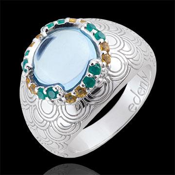 Anello Nausicaa - Argento e Pietre dure - 6.54 carati