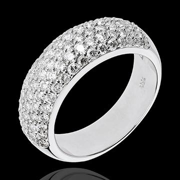 Anello Costellazione - Amore Siderale - Oro bianco - 18 carati - 89 Diamanti - 1.57 carati