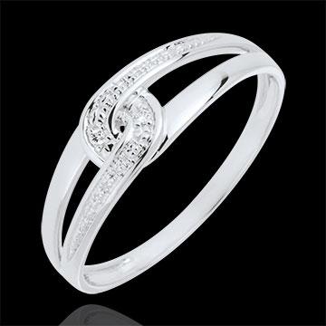 Anello Erika , Oro bianco , 9 carati , 2 Diamanti
