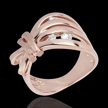 Anello Passeggiata Immaginaria - Camouflage - Oro rosa - 18 carati -Diamanti