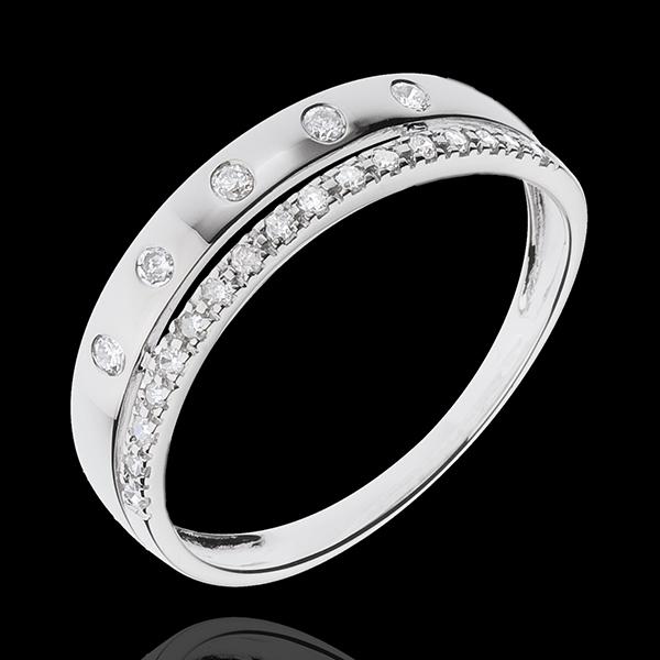 Anello Fantasmagoria - COrona Stellare - modello piccolo - Oro bianco - 18 carati - Diamanti - 0.16 carati