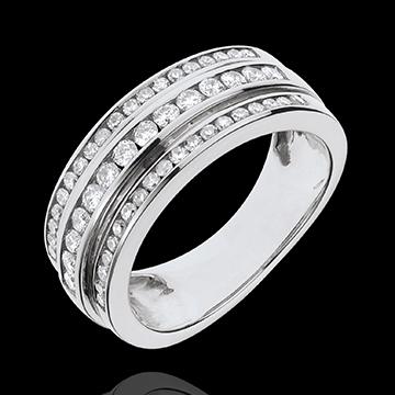 Anello Fantasmagoria - Via Lattea - Oro bianco - 18 carati - 52 diamanti - 0.63 carati