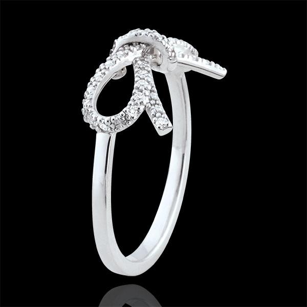 Anello Fiocco Finezza - Argento - 27 Diamanti bianchi - 0.135 carati