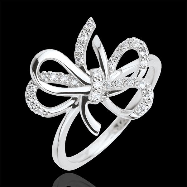 Anello Fiocco Follia - Argento e Diamanti - 0.163 carati