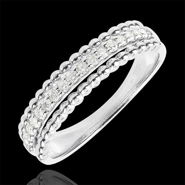 Anello Fior di Sale - due anelli - Oro bianco - 18 carati