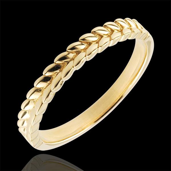 Anello Giardino Incantato - Treccia - Oro giallo - 18 carati