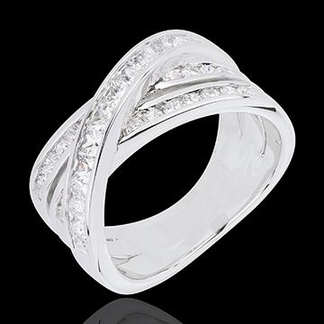 Anello Grande Saturno - Oro bianco -18 carati - Diamanti - 1.37 carati