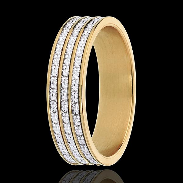 Anello - Infinita Finezza - Oro bianco e Oro giallo - 18 carati