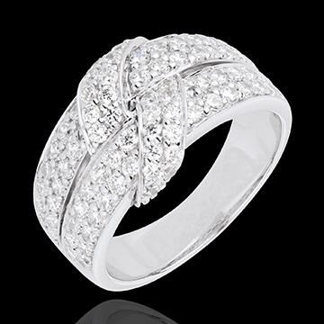 Anello Legame supremo - Oro bianco - 18 carati - 80 Diamanti - 1.26 carati