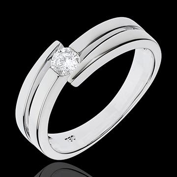 Anello Nido Prezioso - Salomé - Oro bianco - 18 carati - Diamante - 0.205 carati