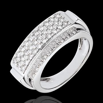 Anello Paola - Oro bianco . 18 carati - 48 Diamanti - 0.6 carati