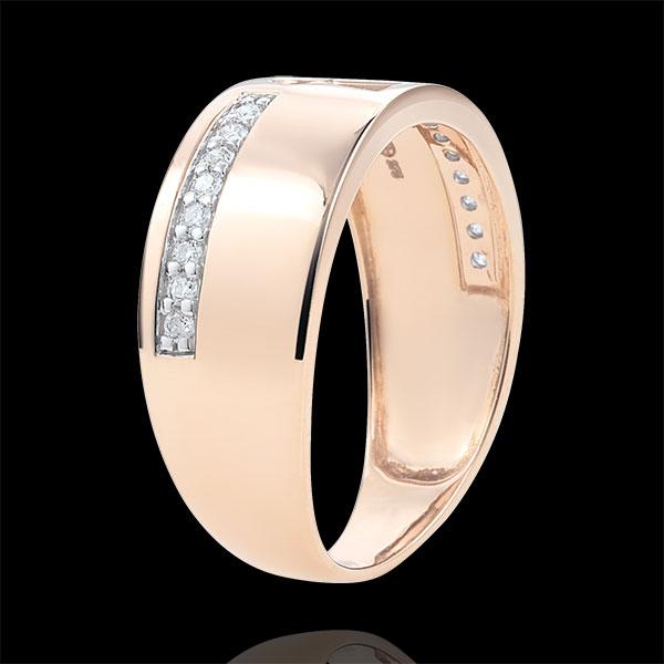 Anello Prezioso Segreto - Diamanti - Oro rosa - 9 carati