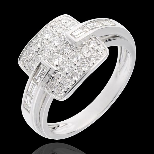 Anello Riad - Oro bianco pavé - 18 carati -32 Diamanti - 0.82 carati