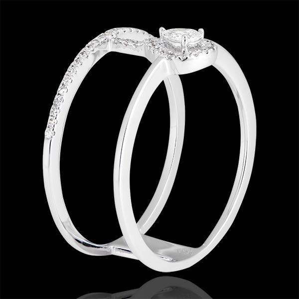 Anello Serafina - oro bianco 18 carati e diamanti