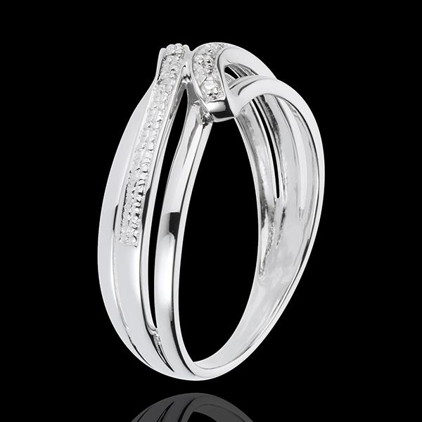 Anello Serenity - Oro bianco - 18 carati - 6 Diamanti
