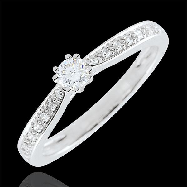 Anello solitario Garlane 8 diamanti - 0.15 carati.
