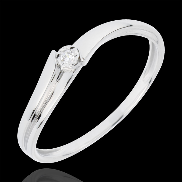 Anello Solitario Lucea - Oro bianco - 18 carati - 1 Diamante