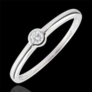 Anello Solitario Mio Diamante – Oro bianco - 0.08 carati – oro bianco 9 carati