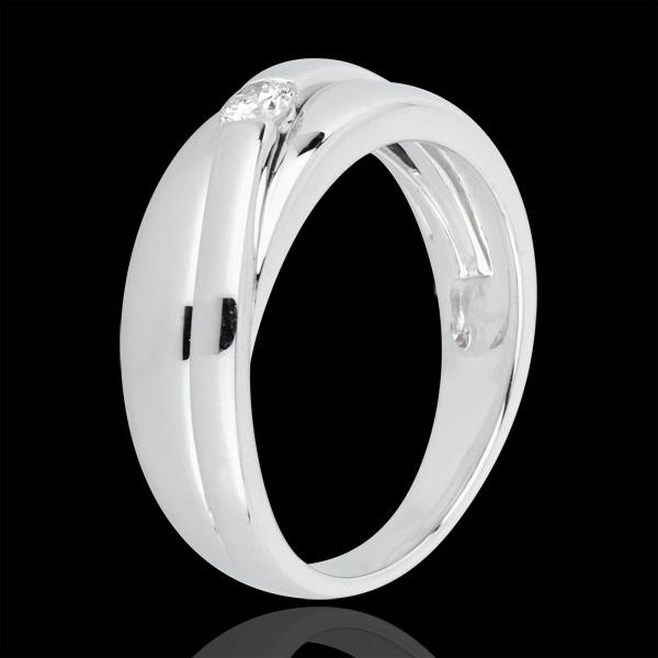 Anello Solitario Nastia - Oro bianco - 18 carati . 1 Diamante - 0.12 carati