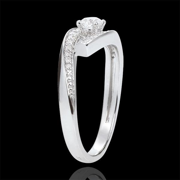 Anello Solitario Nido Prezioso - Diva - modello piccolo - Oro bianco - 18 carati - Diamanti - 0.478 carati