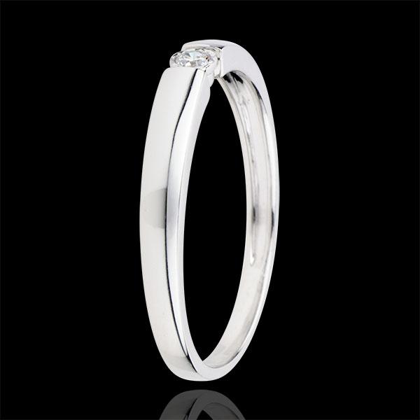 Anello Solitario Tesoro caramella - Oro bianco - 18 carati - Diamante