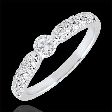 Nuova codici promozionali scegli l'ultima Anello solitario Trionfale - Oro bianco- 18 carati - Diamanti - 0.45 carati  - Diamante centrale - 0.25 carati