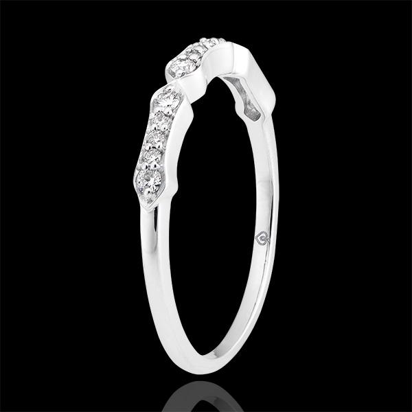 Anello Stella - oro bianco 18 carati e diamanti