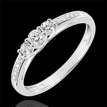 Anello Trilogia Lavia - Oro bianco - 9 carati - 13 Diamanti - 0.23 carati