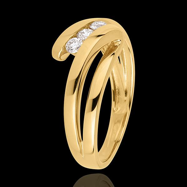 Anello trilogy Nido Prezioso - Naiade - Oro giallo - 18 carati - 3 Diamanti - 0.19 carati