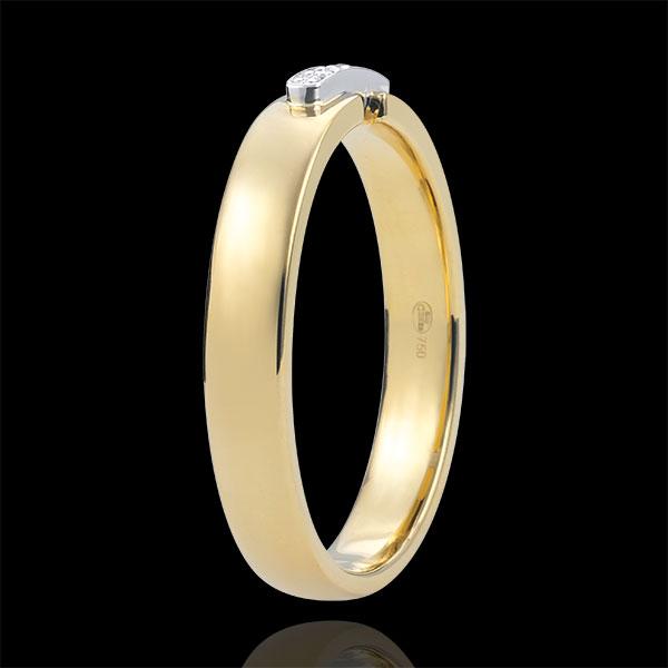 Anello unico e prezioso - Oro giallo - 18 carati - 6 Diamanti