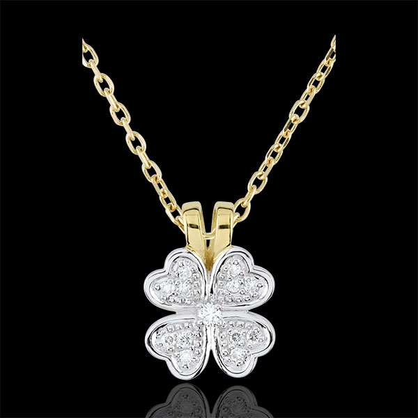 Anhänger Blüte - Zarter Klee- Diamanten