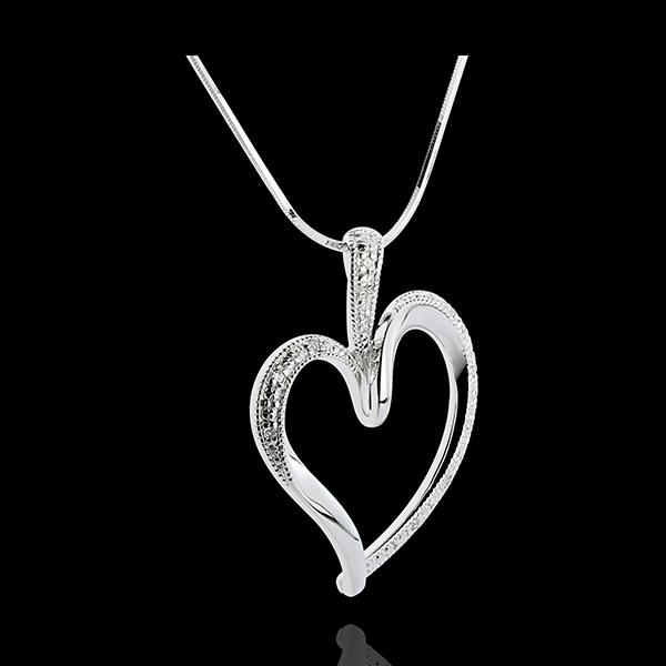 Anhänger Sinnliches Herz - 10 Diamanten