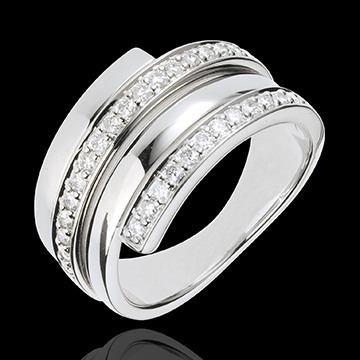 Anillo Báltico - oro blanco 18 quilates - 30 diamantes
