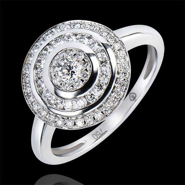Anillo de Compromiso Abundancia - Anillo Hipnosis - oro blanco 9 quilates y diamantes