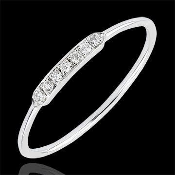 Anillo de Compromiso Abundancia - Equilibrio - oro blanco de 18 quilates y diamantes