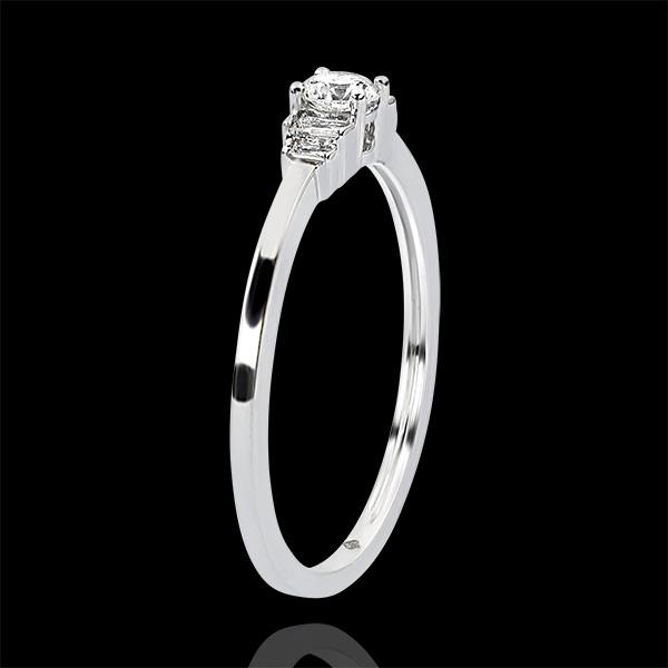 Anillo de Compromiso Abundancia - Jayne - oro blanco de 9 quilates y diamantes