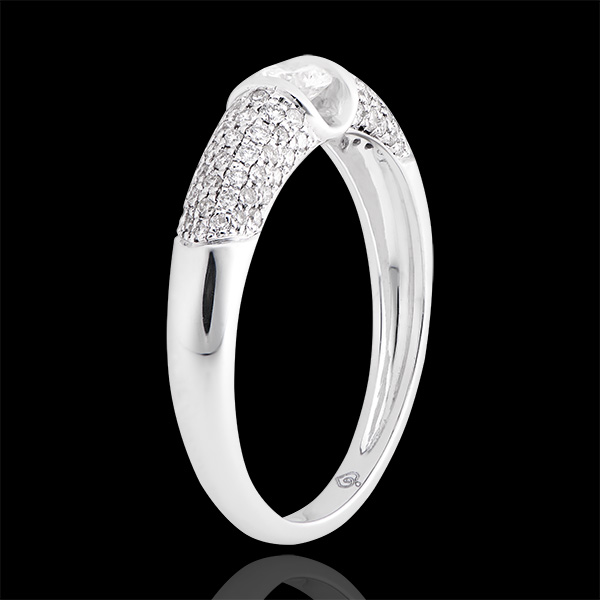 Anillo de compromiso Destino - Diana - oro blanco de 9 quilates y diamantes