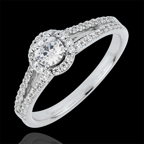 Anillo de compromiso Destino - Josefina - oro amarillo 18 quilates - diamante 0.3 quilates