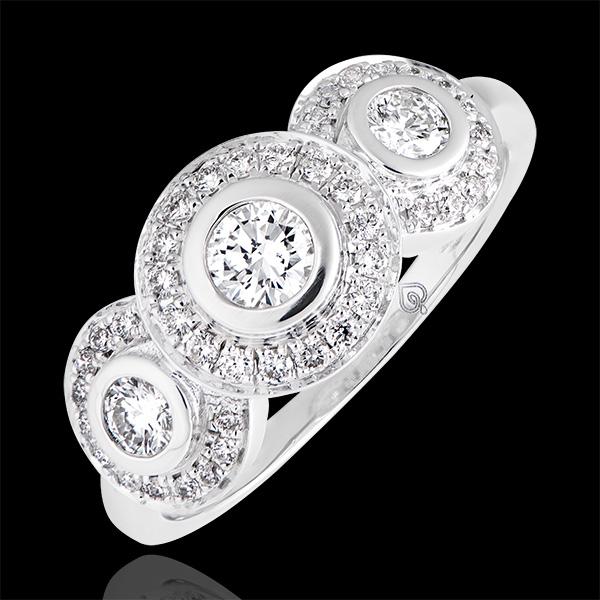 Anillo de compromiso Destino - Trianon - oro blanco de 18 quilates y diamantes
