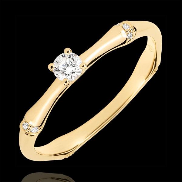 Anillo de compromiso Jungla Sagrada - diamante 0,09 quilates - oro amarillo 18 quilates