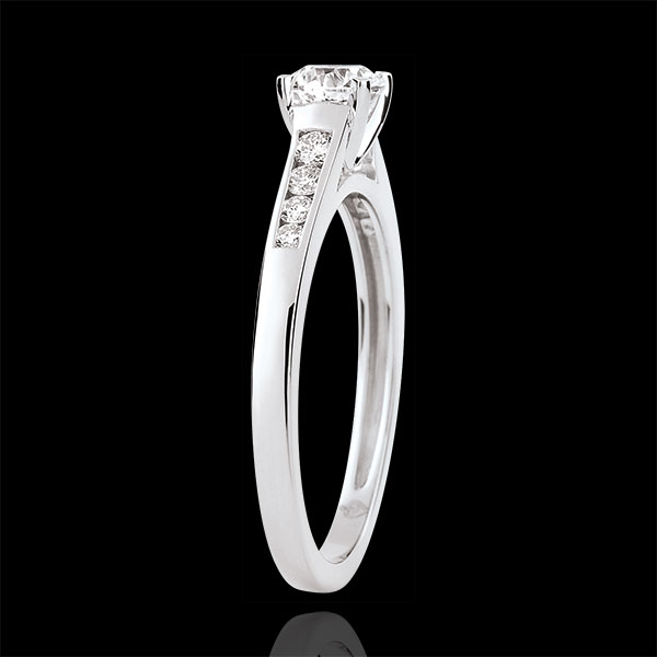 Anillo de compromiso solitario Alteza - diamante 0.4 quilates - oro blanco 18 quilates