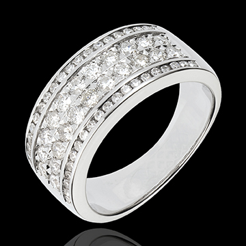 Anillo Constelación - Cosmos - oro blanco 18 quilates - 62 diamantes