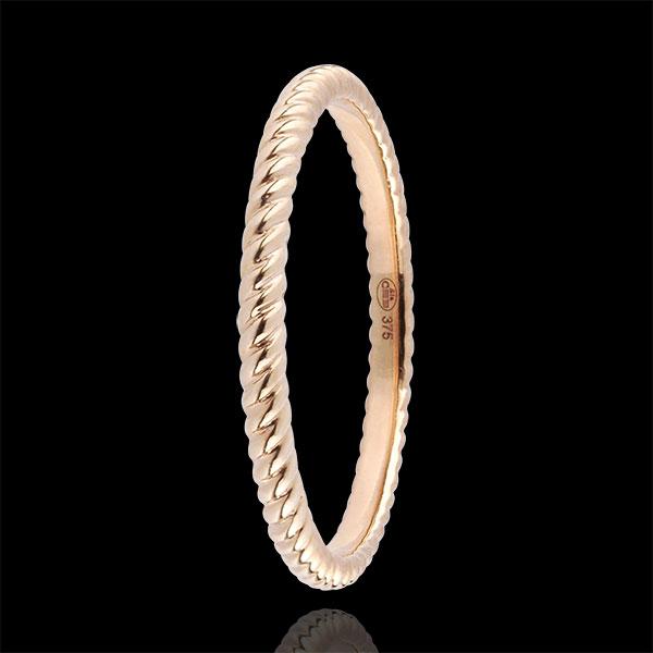 Anillo Cuerda de Oro - oro rosa 18 quilates