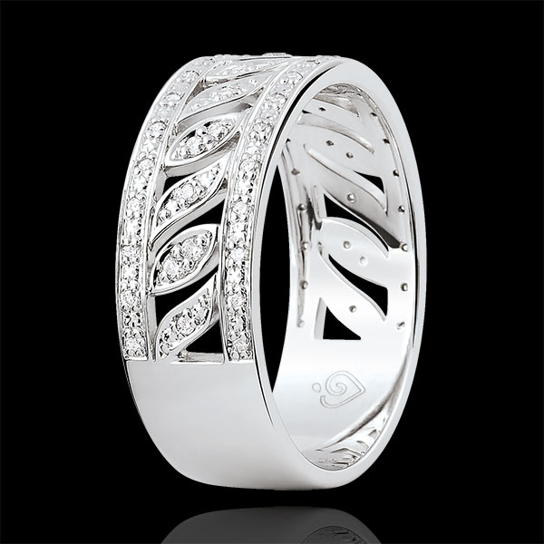 Anillo Destinado - Teodora - 52 diamantes - oro blanco 9 quilates