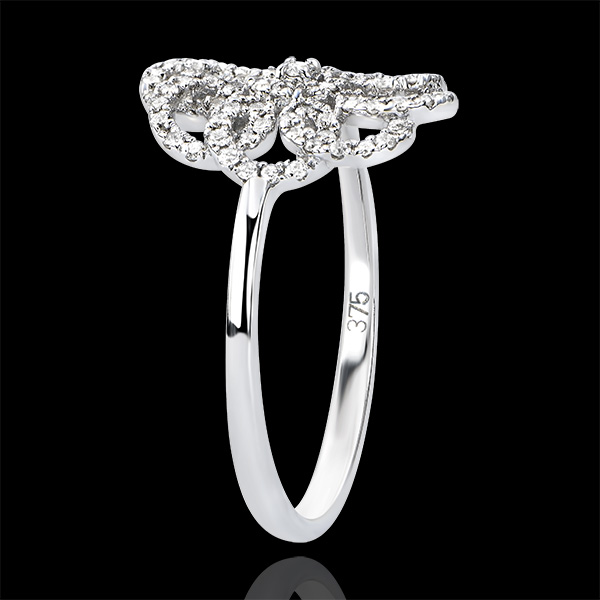 Anillo Destino - Arabesco - oro blanco de 9 quilates y diamantes
