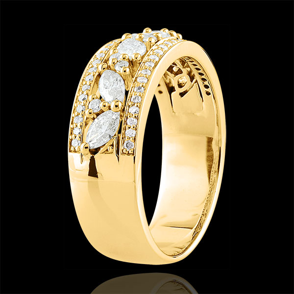Anillo Destino - Bizantino - oro amarillo 18 quilates y diamantes