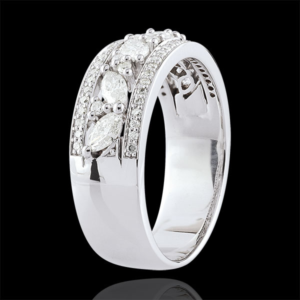Anillo Destino - Bizantino - oro blanco 9 quilates y diamantes