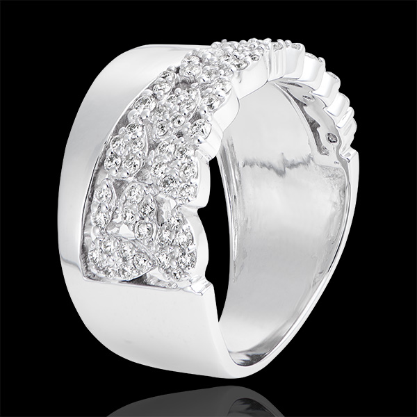 Anillo Destino - Constance - oro blanco de 9 quilates y diamantes