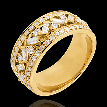 Anillo Destino - Emperatriz - oro amarillo 18 quilates - diamantes 0. 85 quilates