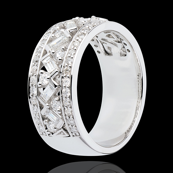 Anillo Destino - Emperatriz - oro blanco 18 quilates - diamantes 0. 9 quilates
